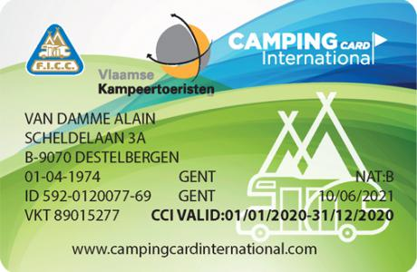 camping card international CCI-kaart